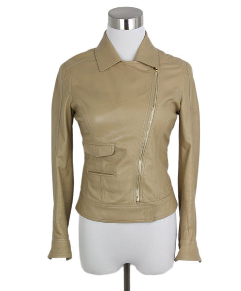 Versace Tan Leather Jacket 1