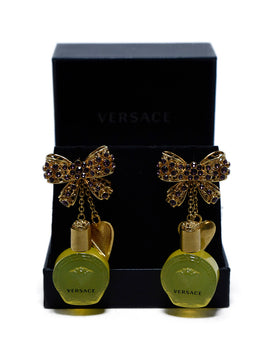 Versace Perfume Bottle Earrings 1