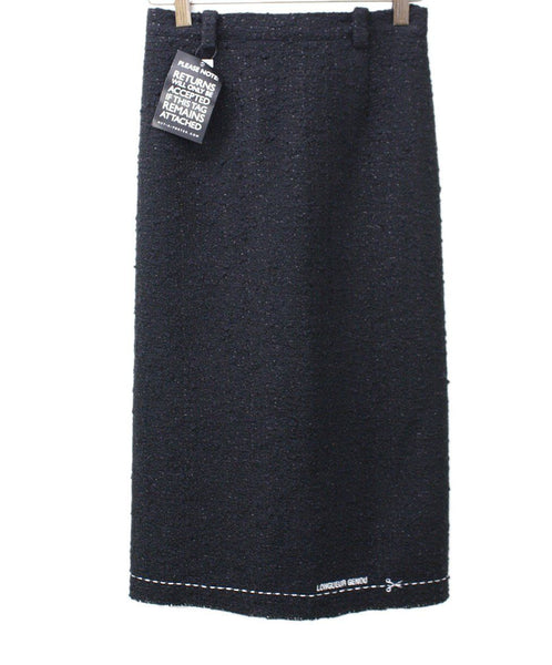 Vetements Black Wool Boucle Skirt 1