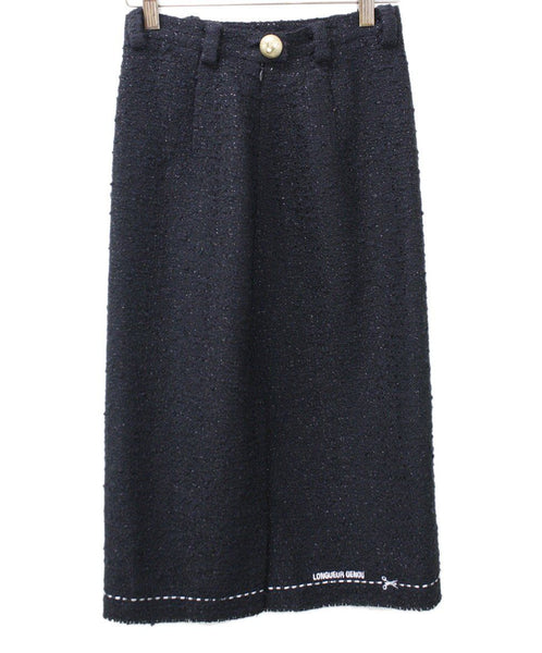 Vetements Black Wool Boucle Skirt Sz 0