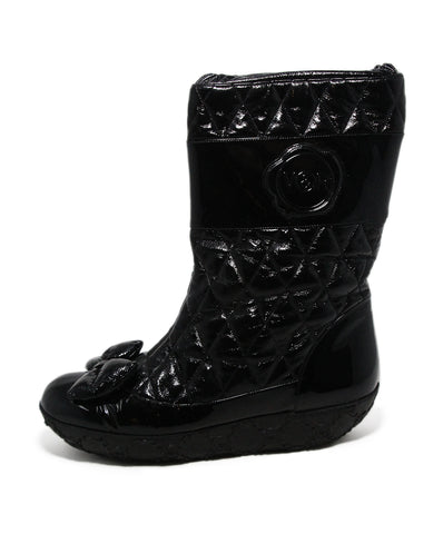 Viktor & Rolf Black Patent Leather Bow Boots 1
