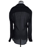 Viktor & Rolf Black Silver Silk Tweed Top Blouse 3