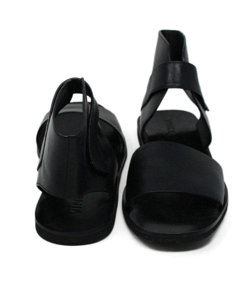 Vince Black Leather Sandals 3