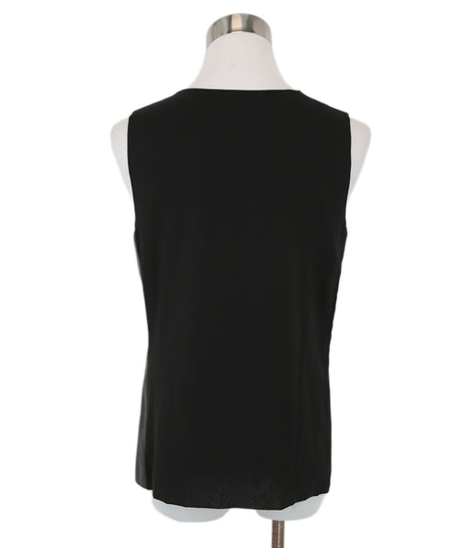Vince Black Leather Silk Top 3