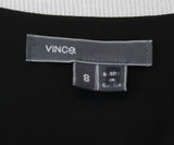 Vince Black Leather Silk Top 4