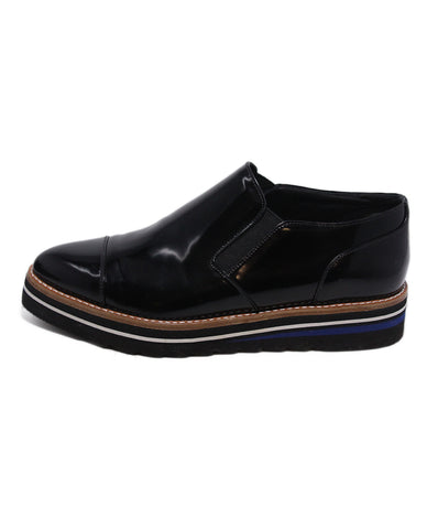 Vince Black Patent PVC Loafers 1
