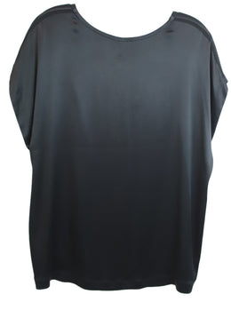 Vince Black Polyester Satin Top 1