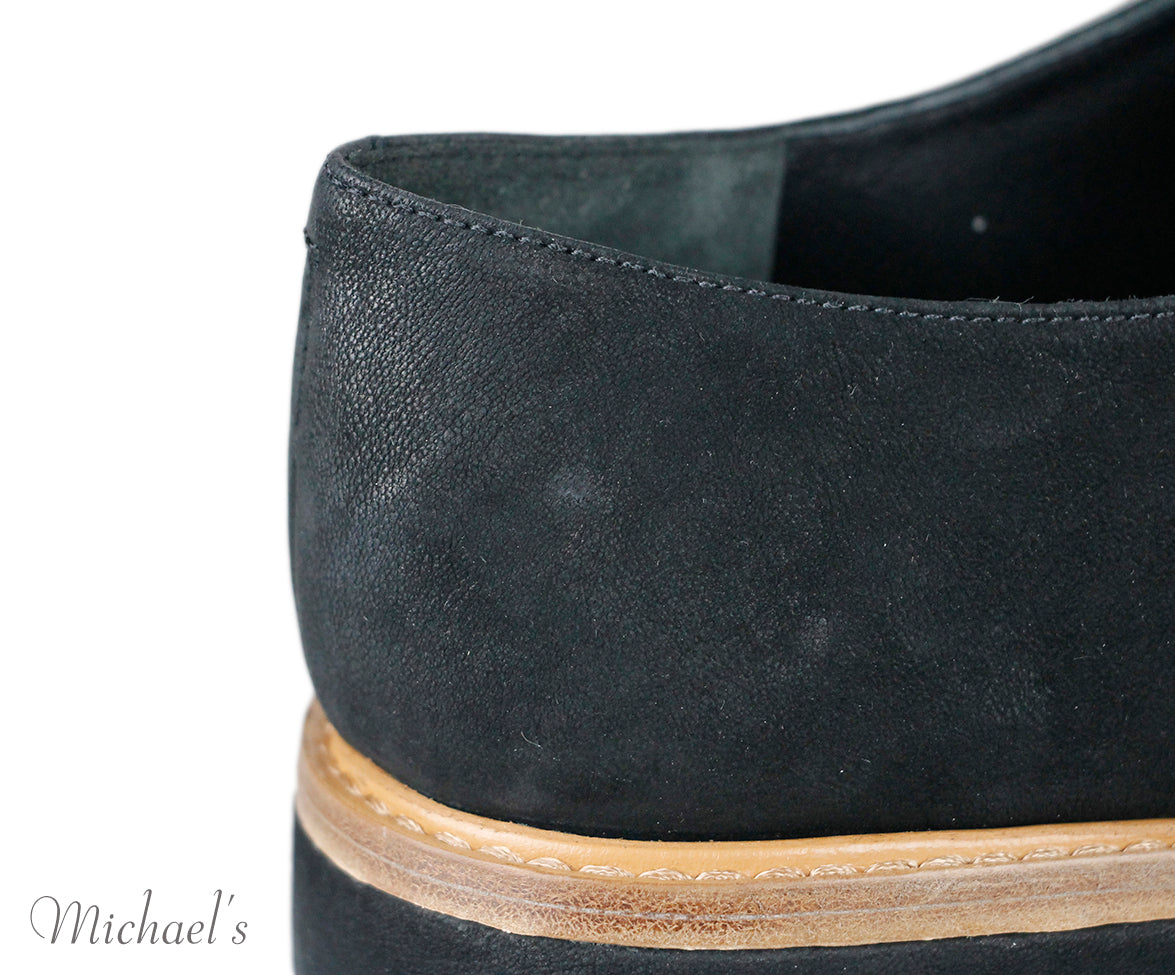 Vince Black Suede Lace Up Shoes