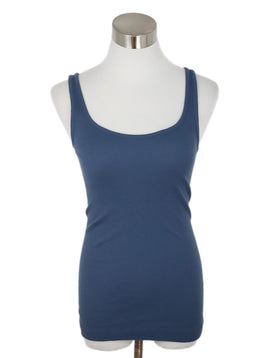 Vince Blue Cotton Top 1