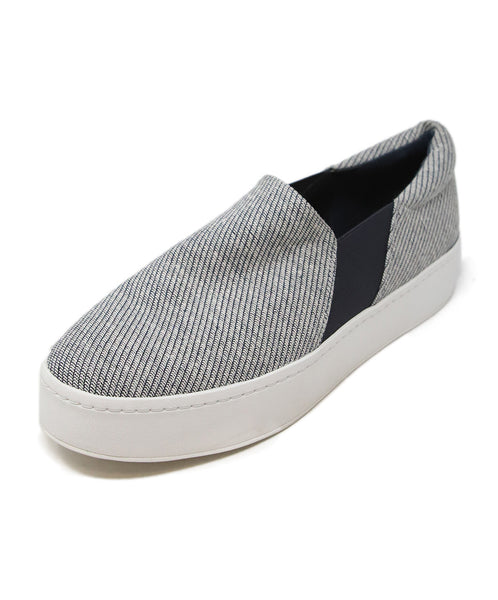 Vince Grey Navy Canvas Sneakers 1