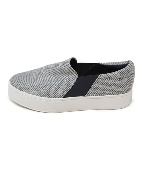 Vince Grey Navy Canvas Sneakers 2