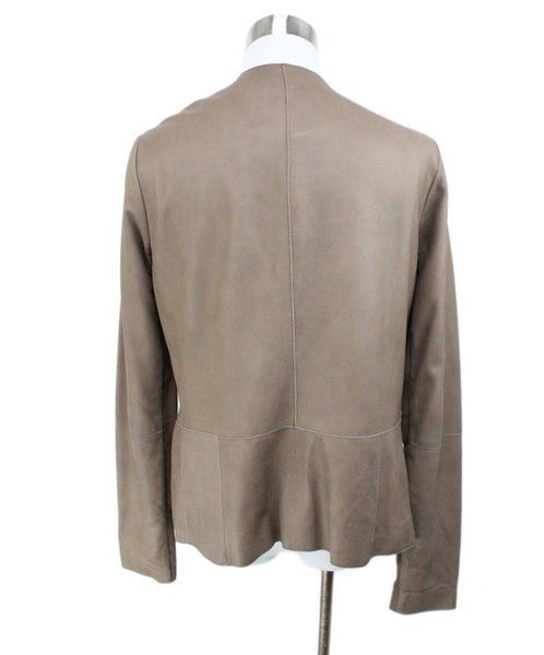 Vince Brown Leather Jacket 3