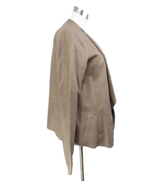 Vince Brown Leather Jacket 2