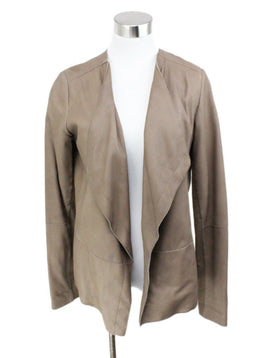 Vince Brown Leather Jacket 1