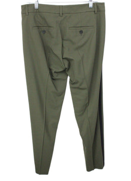 Vince Olive Green Pants with Black Trim on Side 2