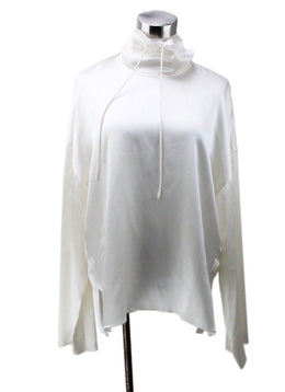 Vince White Ivory Silk Top