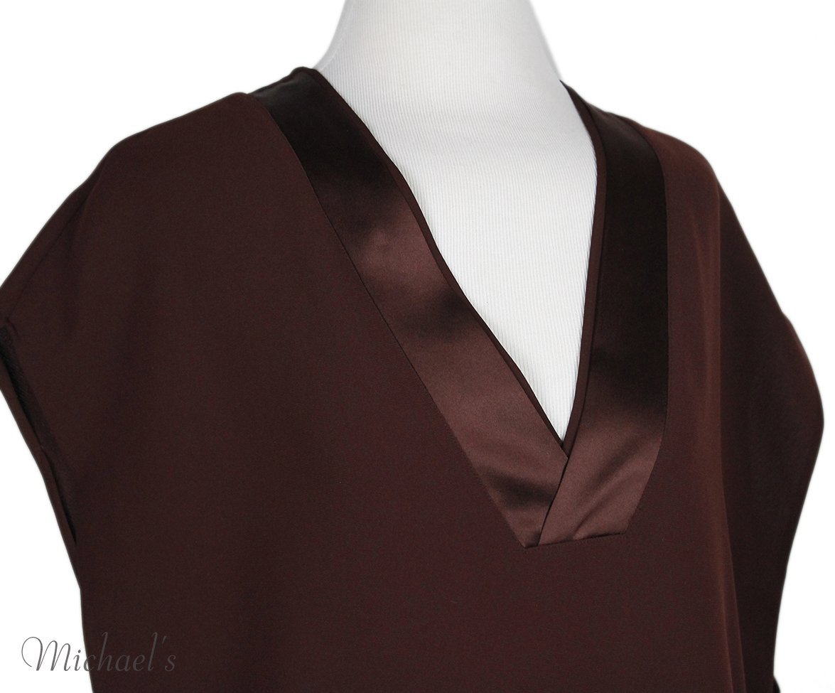 Vince Red Wine Polyester Dress