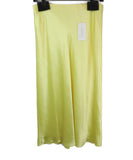 Vince Yellow Satin Slip Skirt 1