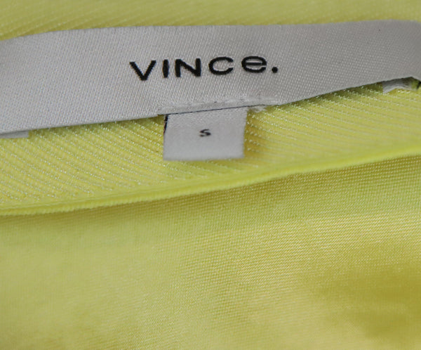 Vince Yellow Satin Slip Skirt 3
