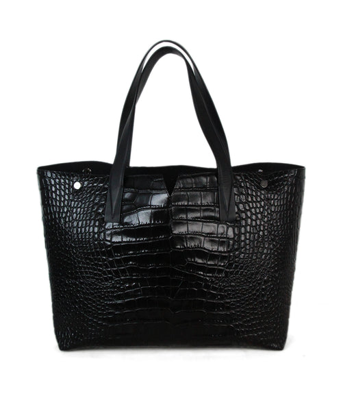 Vince black pressed leather bag 1