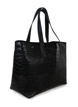 Vince black pressed leather bag 2