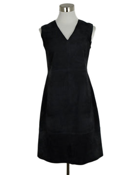 Vince Blue Navy Suede Dress 1