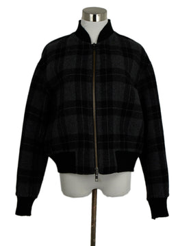 Vince Black and Grey Plaid Wool Jacket sz. 6 | Vince