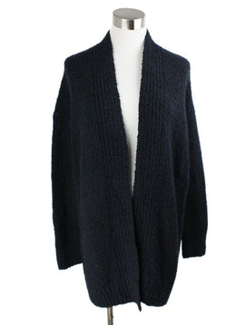 Cardigan Vince Blue Navy Wool Cashmere Sweater 1