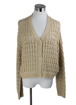 Vince Beige Cotton Sweater 1