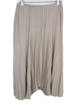 Vince Beige Polyester Pleated Skirt 2