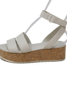 Vince White Leather Platform Sandals 1