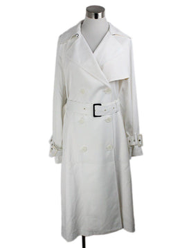 Vince White Viscose Trenchcoat 1