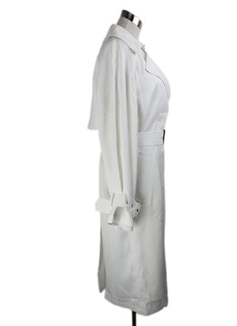 Vince White Viscose Trenchcoat 2