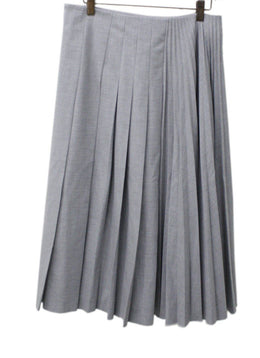 Vivetta Grey Pleated Wool Skirt Sz 8