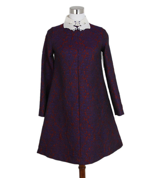 Vivetta purple burgundy white collar dress 1