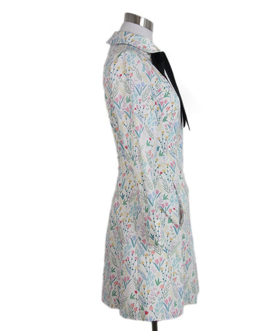 Vivetta white multi print cotton dress 1