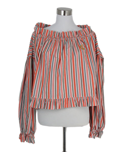 Vivienne Westwood grey orange stripes top 1