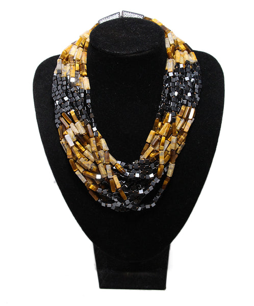 Von Musulin Wood Beaded multi Strand necklace 1