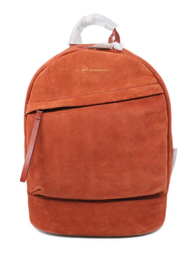 Want Les Essentiels Burnt Orange Suede Backpack 1