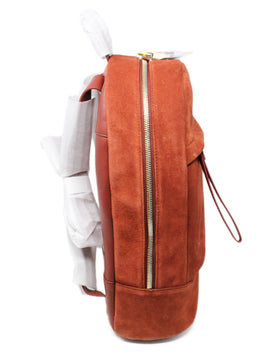 Want Les Essentiels Burnt Orange Suede Backpack 2