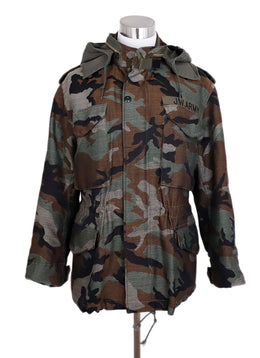 Watanabe Green Brown Camouflage Wool Poly Jacket 1