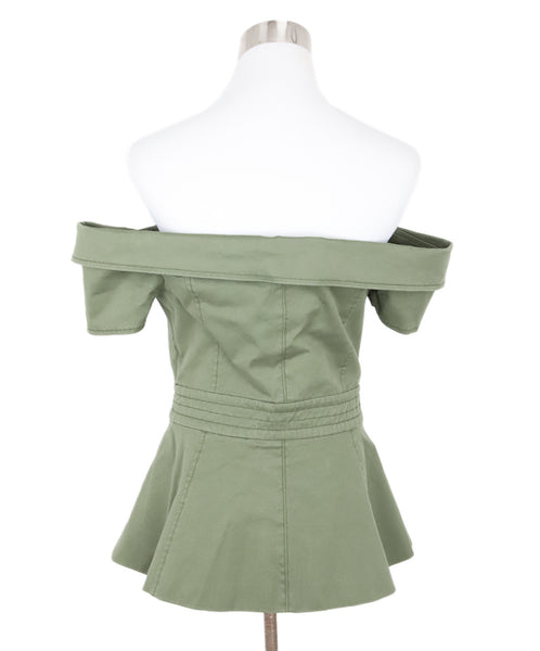 Webb Green Olive Cotton Top 3