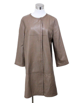 Weekend by Max Mara Tan Leather Coat