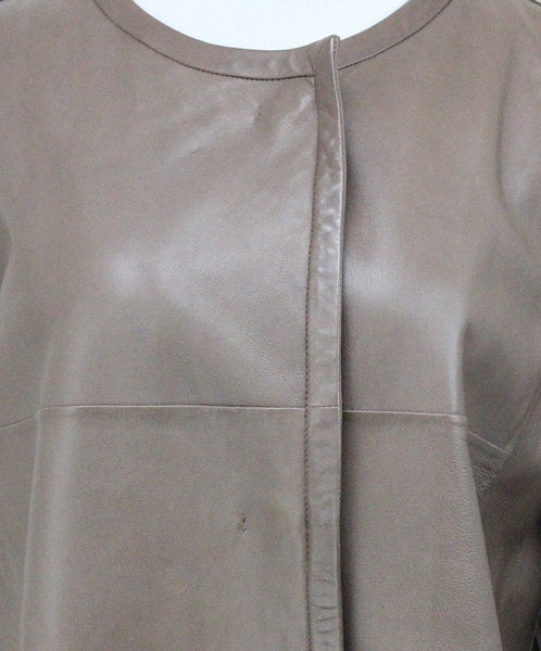 Weekend by Max Mara Tan Leather Coat 5