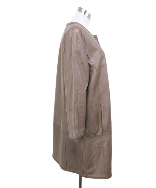Weekend by Max Mara Tan Leather Coat 1