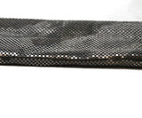 Whiting & Davis Silver Metallic Clutch with Clear Stone Wrist Handle Detail 3