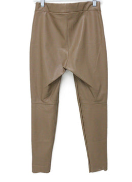 Wolford Neutral Beige Leather Pants 1