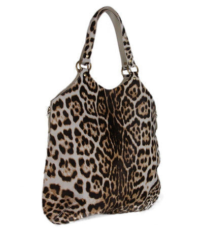 YSL Animal Print Calfhair Hobo Bag 1