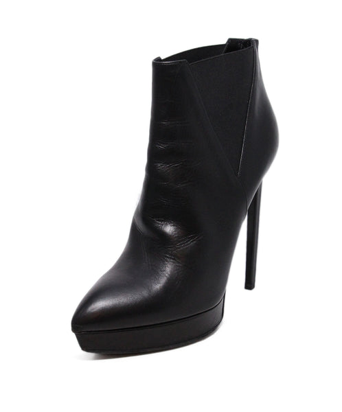 YSL Black Leather Booties 1