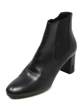 Saint Laurent Black Leather Chelsea Boots 1